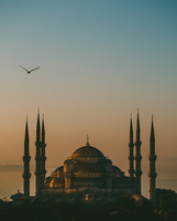 Blue Mosque at dusk, Turkey