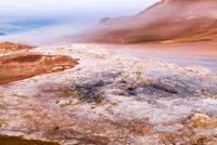 Mud pots of geothermal fields