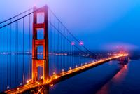 Golden Gate Bridge at evening, San Francisco, California, USA