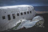 Plane wreck on plain