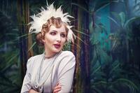 Vintage style portrait of elegant woman