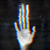 Distorted human hand