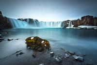 Godafoss waterfall rocks, Iceland