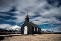 Black wooden church, Iceland