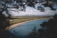 Irish Sea and Mynydd Tir y Cwmwd, Llanbedrog, Wales, UK