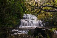 Purakaunui Falls in long exposure, The Catlins, South Island, New Zealand