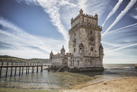 Belem Tower and Tagus River, Lisbon, Portugal
