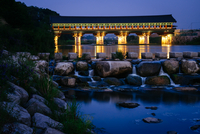 Woljeong Bridge at night, Gyeongju, North Gyeongsang Province, South Korea