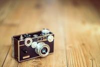 Close-up of analog camera