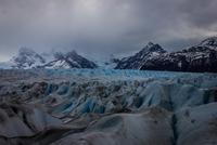 Glacier and overcast sky, El Calafate, Argentina