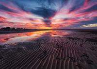 Moody sky over beach, Mackay, Queensland, Australia