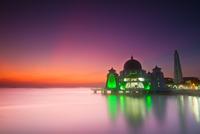 Sunset over Masjid Selat, Malacca City, Malaysia