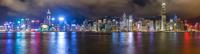 City skyline at night, Hong Kong, China