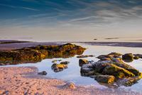 Morecambe Bay coast, England, UK