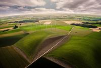 Wind farm in fields