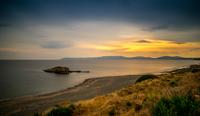 Beach at sunset, Doganbey, Turkey