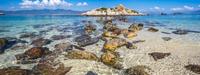 Seaside rocks in crystal clear water, Vietnam