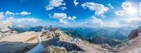 Blue sky over mountains, Cortina dAmpezzo, Italy