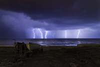 Storm over sea, Italy