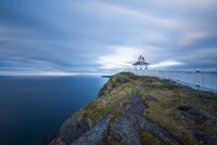 Lighthouse on cliff, New Foundland, Canada