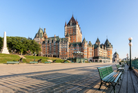 Castle with clear blue sky in background, Fairmont Le Chateau Frontenac, Quebec City, Quebec, Canada