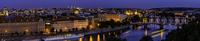 Prague old town panorama at night, Prague, Czech Republic