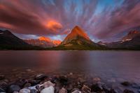 Glacier National Park at dawn