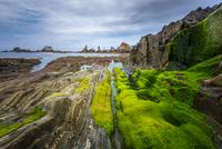 Gueirua rocky beach, Santa Marina del Rey, Asturias, Spain