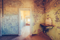 Old bathroom, Kolmanskop, Namibia
