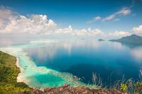 Scenic view of coast, Boheydulang Island, Malaysia