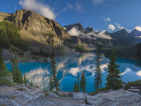Moraine Lake and Valley of the Ten Peaks in Banff National Park, Alberta, Canada