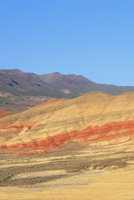 Landscape with Painted Hills under clear sky, Wheeler County, Oregon, USA