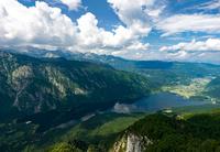 Lake Bohinj surrounded by mountains of Julian Alps, Bohinj, Upper Carniola, Slovenia