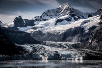 John Hopkins Glacier and Mount Orville in Glacier Bay, Alaska, USA
