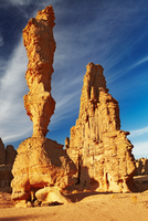 Sandstone cliffs in Sahara Desert, Algeria