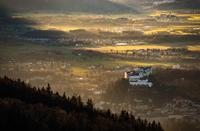 Fortress Hohensalzburg in Golden Autumn Light