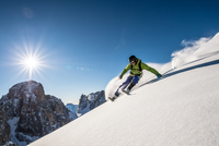 Powder Skiing in the Dolomites, Italy