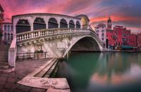 Panorama of Rialto Bridge, Venice
