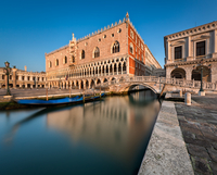 Doge's Palace and Bridge of Sighes in Venice, Italy