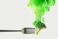 Disintegrated broccoli