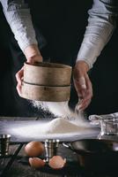 Pasta. Sifting Flour.