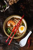 Asian Soup with Shrimp