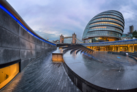 Panorama of London City Hall in London