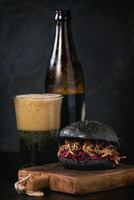 Black Burger with Dark Beer