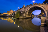 Panorama of Ponte Sant'Angelo in Rome