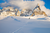 Backcountry ski touring in the Dolomites
