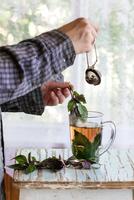 Violet Basil Tea 11098075927| 写真素材・ストックフォト・画像・イラスト素材|アマナイメージズ