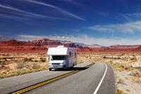 RV Camper on highway