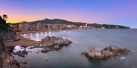 Panorama of Lloret de Mar Seafront in the Evening, Lloret de Mar