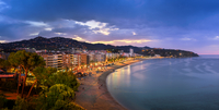 Panorama of Lloret de Mar in the Morning